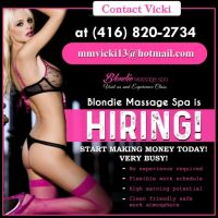 👠BLONDIE MASSAGE IS HIRING ATTRACTIVE LADIES!👠JOIN OUR SUCCESFUL TEAM TODAY!!👠BUSY!!👠
